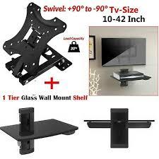 uk glass led plasma tv wall mount shelf