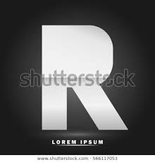 White Paper Template Gorgeous Letter R Icon Logo Template Flat Stock Vector Royalty Free