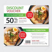 Discount Gift Voucher Asian Food Template Design Noodles Set