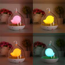Night Lamp For Bedroom Home Led Night Lamp Kids Bedroom Table Lights Birdcage Touch