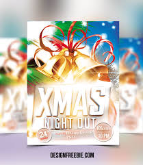 Free Christmas Flyer Templates Psd Festival Collections