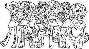 My Little Pony Coloring Sheets Pages Girl Games Rainbow Dash Easy