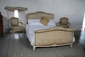 Louis Xv Bedroom Furniture Original French Upholstered Sleigh Roll Top Style Louis Xv King