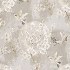 Wallpaper For Living Room Feature Wall Painted Contemporary Gold And Cream Hummingbird Wallpaper Walls