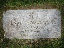 Henry Thomas Watts (1917-1997) - Find A Grave Memorial