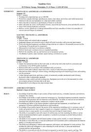 Assembler Resume Samples Mechanical Assembler Resume Samples Velvet Jobs 14