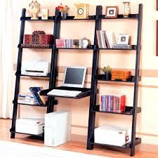 modern shelf black hardwood ladder bookcase with floating computer desk leaning bookcase desk white shelf ideas leaning shelf black crate and barrel leaning