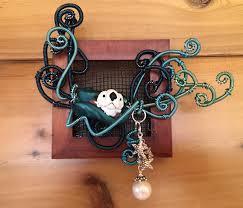 Wire Embroidery  Same Ocean, New Tide  lampwork otter art bead by Joy  Munshower