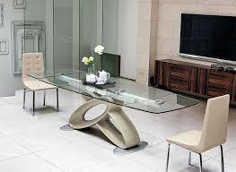 eclipse modern rectangular extending glass dining table thumbnail