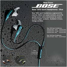 bose sport earphones. bose sie2i blue sport earphones