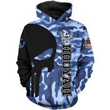 United States Navy Hooyah Hoodie Sweater 3d Over Printed