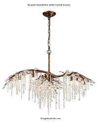 branch chandelier lighting. branch chandelier with crystal leaves on trend organic look using genuine crystals moderately priced and expertly made lighting n