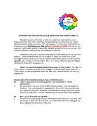 Job Shadow Letter Northmont City Schools
