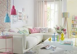 living room design with pastel colors