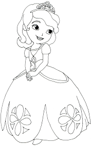 Sofia First Coloring Pages Cartoon Wallpapers Colouring Princess