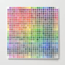 Watercolor Color Chart Metal Print By Jessicastock