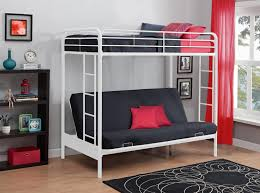 ... Total Fab Metal & Wood Loft Beds with Sofa Underneath