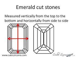 Emerald Cut Stone Size Chart Cubic Zirconia Size Chart By Carat Weight Cubic Zirconia Cz