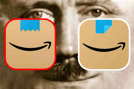 Amazon had recently changed the logo or phone app symbol. Rofl Remember When Amazon Rolled Out Their New Mobile App Icon And We Said It Looked Like Hitler They Changed It Not The Bee