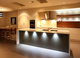 image of modern kitchen lighting island