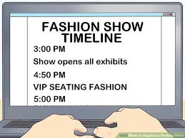 Fashion Show Seating Chart Template How To Organize A Fashion Show With Pictures Wikihow