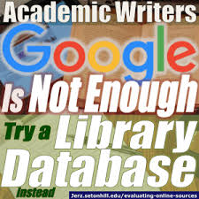research essays evaluating online sources for academic papers  a reference librarian is specially trained to help patrons the best sources an internet search engine on the other hand will show you plenty of