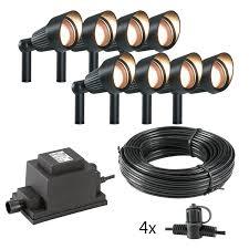 techmar plug and play focus verona led garden spotlight kit 8 lights lighting direct