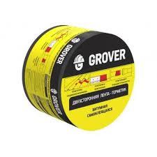 <b>Лента</b>-<b>герметик Grover битумная</b> двухсторонняя черная 3м х 7,5см