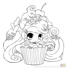 Coloriage Fille Chibi Cupcake Coloriages Imprimer Gratuits