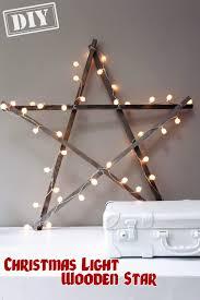 diy light wooden star top easy interior