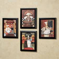 sonoma chef framed wall art set within most cur kitchen wall art sets gallery 8