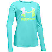 under armour tank tops for girls. product image · under armour girls\u0027 big logo slash graphic long sleeve shirt tank tops for girls