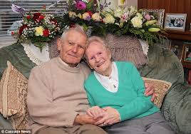 Bessie Cameron John Roland Couple celebrate 70 years of marriage after she  fainted in to the arms of a stranger as the first bombs of World War II… –  Lebanon Times Beirut