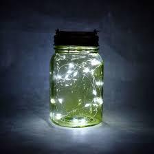 lighting jar. Fantado Wide Mouth Lime Green Mason Jar Light W/ Hanging Cool White Fairy LED Kit (Discontinued) Lighting E
