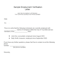 Sample Of Employment Certification Letter Sample Employment Verification Letters Word Free Employer