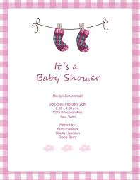 baby shower invitations for girls templates cute pink socks baby shower invitation template