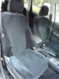 2016 subaru forester front seat covers with black velour sides and black scottsdale inserts