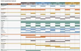 21 Free Event Planning Templates Smartsheet Marketing Timeline