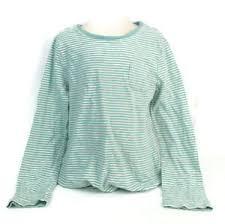 Gap Shirt Size Chart Gap Kids Girls Turquoise White Striped Long Sleeve Shirt