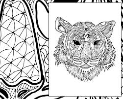Small Picture digital tiger coloring sheet animal coloring pdf zentangle