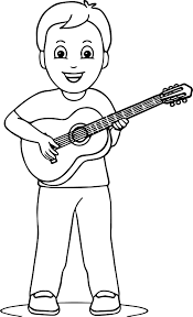 Small Picture Boy Playing Guitar Coloring Page Wecoloringpage