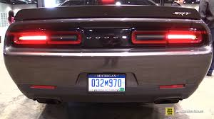 dodge challenger 2015 hellcat interior. 2015 dodge challenger hellcat exhaust sound ext interior walkaround chicago auto show youtube