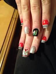 Nail Design Chicago Blackhawks Nails Nancy Nguyen Football Nails Nail