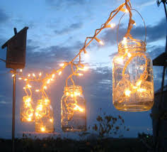 diy party lighting backyard lighting icicle lights in mason jars home ideas outdoor party light diy party lighting