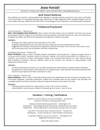 Resume Template Sample Nurse Practitioner Resume Free Resume