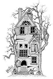 Une Grande Maison Hant E Vous De Colorier Ses Moindres Petits