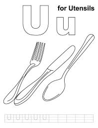 Small Picture Kitchen Utensils Coloring Pages Alphabet Coloring Pages Free