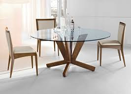 glass top wood dining table. large round glass dining table top wood