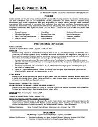 Sample Resume For A Nurse