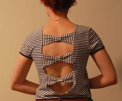 diy bow t shirt cutting design